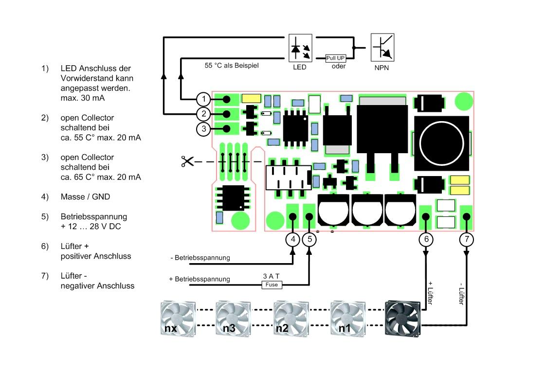 Ku Ls2 Pwm Fan Controller Kuhne Electronic Amateur Radio Shop Design Of Temperature Controlled Boost Converter Circuit Schaltplan