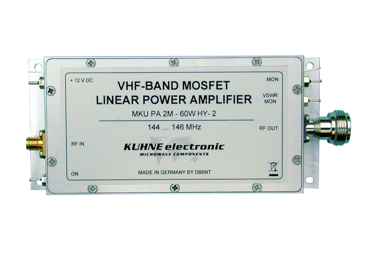 MKU PA 2M-60W HY-2, VHF-MOSFET Power Amplifier - Kuhne Electronic