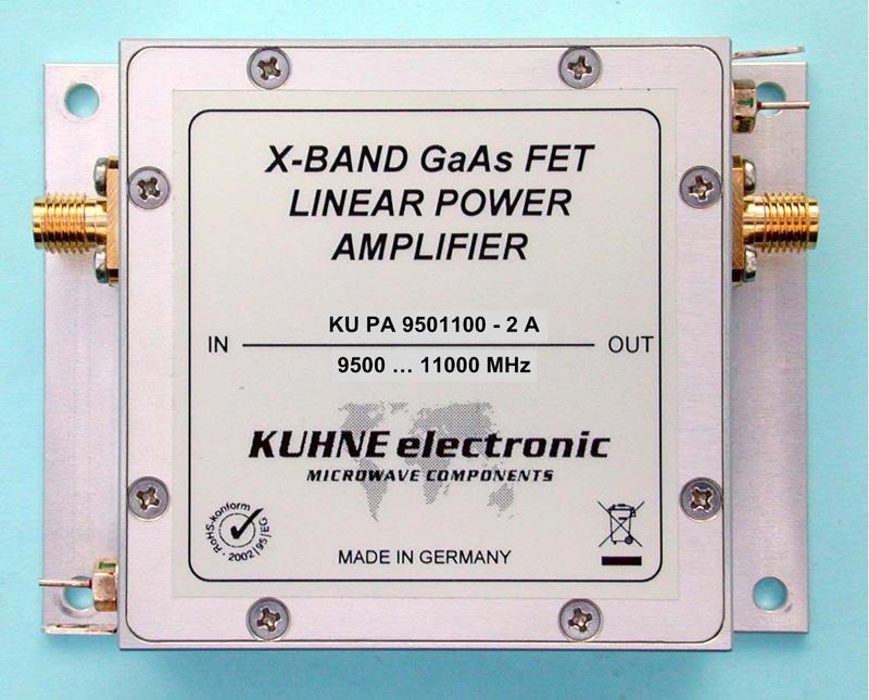 KU PA 9501100-2 A, GaAs-FET Power Amplifier - Webseite