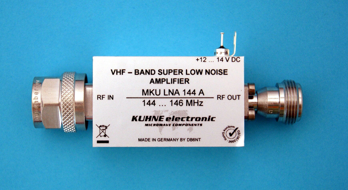 MKU LNA 144 A, Selective Low Noise Amplifier - Kuhne Electronic