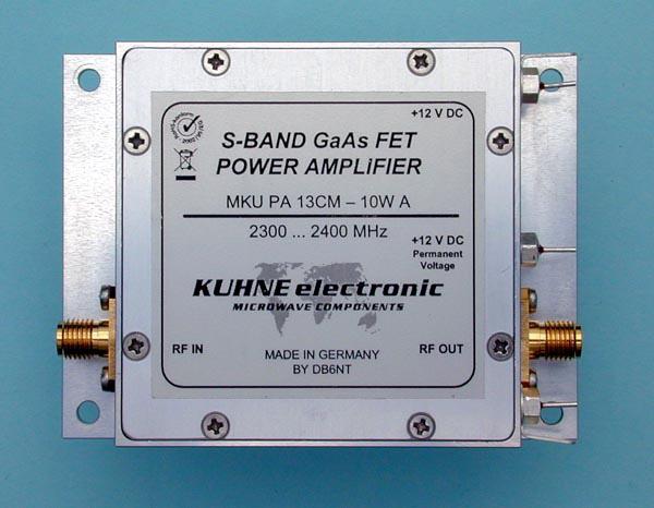 MKU PA 13CM-10W A, GaAs Power Amplifier - Kuhne Electronic