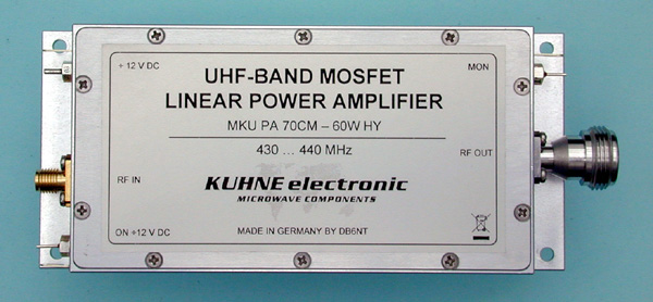 MKU PA 70CM-60W HY, UHF MOSFET-Power Amplifier - Kuhne